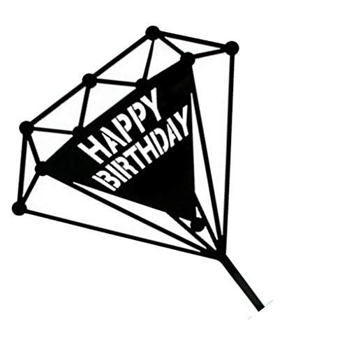Kakiyi Acryl Happy Birthday Cake Topper Dessert Flag Babyparty-Partei-Hochzeit Kinder Bevorzugungen (Babyparty Für Bevorzugungen Eine)