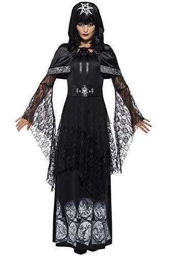 ncy Dress Halloween Party Evil Schwarz Magic Mistress Kostüm Outfit Gr. UK Kleid 36, schwarz ()