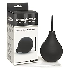 Premium Medical Silicone Enema Bulb - Soft, Safe and Comfortable Medical Douche for Men and Women- Complete Wash Anal and Vaginal Wash Kit with Medical Cleaning Brush from FF