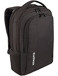 "Wenger 600634 SURGE 16"" Laptop Backpack , Padded laptop compartment with iPad/Tablet / eReader Pocket in Black {13 Litres}"