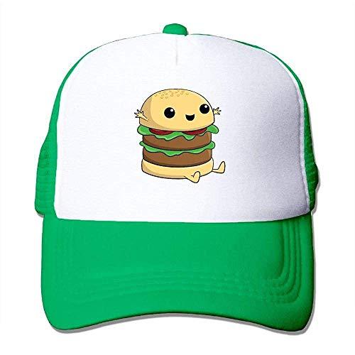 Hoswee Unisex Kappe/Baseballkappe, Cartoon Burger Classic Mesh Back Trucker Hats Outdoor Baseball Hat -