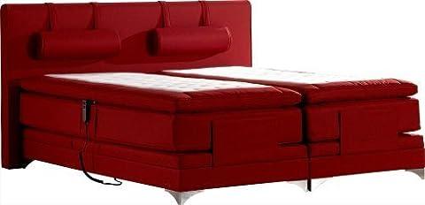 Betten-ABC® Boxspringbett Schwarzwald Deluxe mit Motor+7-Zonen Taschenfederkernmatratze+Topper - Grösse 200 x 200 cm - Härtegrad 8 - Stoff Schwarz, fein