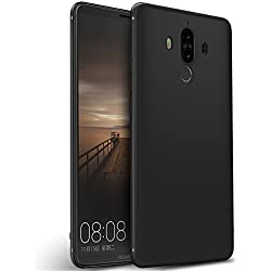 Olliwon Coque Huawei Mate 9, Ultra Mince Antichoc Silicone TPU Fine Housse Etui Coque Protection Case Cover pour Huawei Mate 9 - Noir