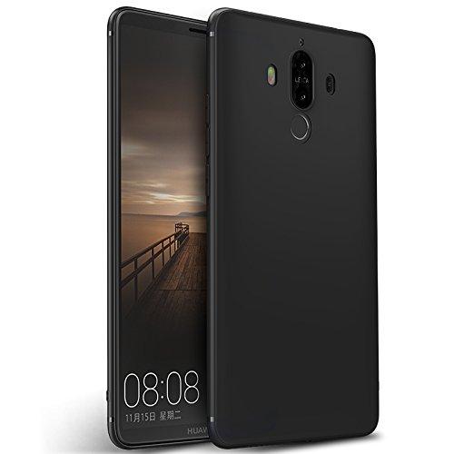 Olliwon Huawei Mate 9 Hülle, Dünn Leichte Schutzhülle Schwarz Silikon TPU Bumper Case Cover für Huawei Mate 9 -Schwarz