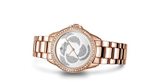 Timothy Stone Damen K-011-ALRG 'Katy' Roségold Uhr - Swarovski Kristall verschönert Lünette Quarzwerk Rosenblüten-Zifferblatt