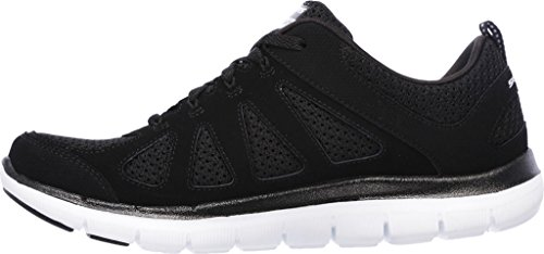 Skechers Flex Appeal 2.0 Simplistic Women's Trainers fitness Lite Weight black Black-White