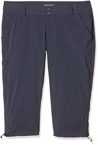 Columbia Knielange Wanderhose für Damen, Saturday Trail II Knee Pant, Nylon, schwarz (India Ink), Größe: 14, AL8672 Sony Zip