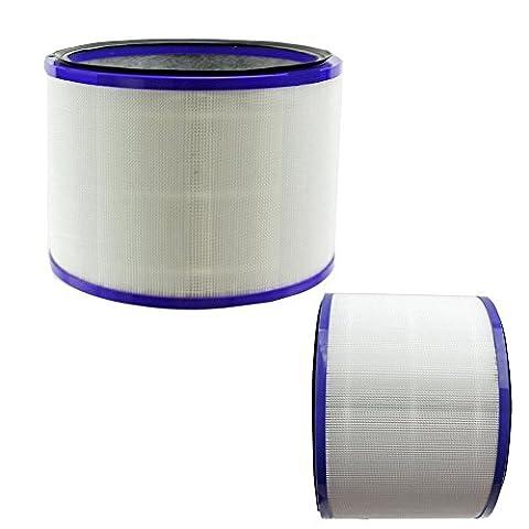 TOP 2 Pack Filter für Dyson 967449-04 Pure Cool Link Schreibtisch Hot + Cold Air Cleaner Lüfter DP01