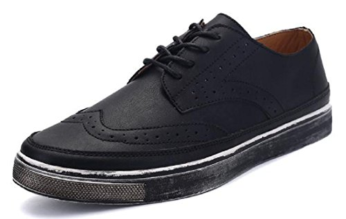 Mens British Style High Quality Soft Leather Oxfords Shoes Black 902
