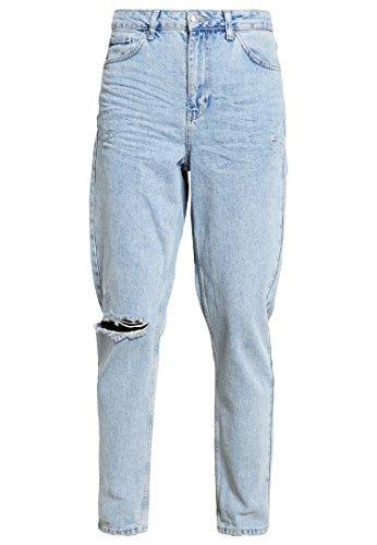 Topshop Damen Jeans Relaxed Fit Bleached denim Blau W32/L30