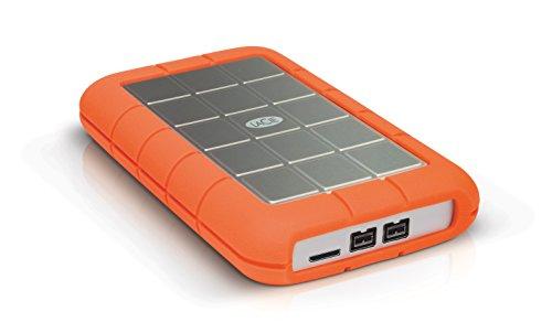 LaCie LAC9000448 Triple 2 TB Externe robuste Festplatte (6,4 cm (2,5 Zoll) Rugged, Staub-, Stoss- und Spritzwasser- geschützt, AES 256-bit-Verschlüsselung, USB 3.0 und FireWire 800) - Rugged Lacie Thunderbolt