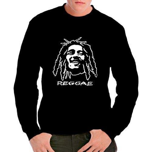 Im-Shirt - Reggae Dreadlocks cooles unisex Fun Sweatshirt - Schwarz 3XL