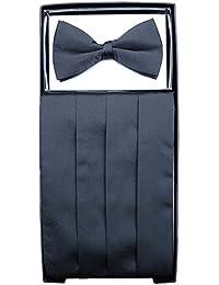 Black Cummerbund & Bow Tie Set Black