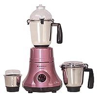Wonderchef Premium 63152536 750-Watt Mixer Grinder with 3 Jars (Velvet/Pink)