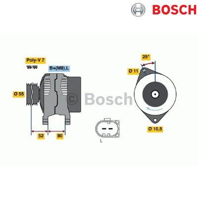 Bosch 124525020 Lichtmaschine Bosch Lichtmaschinen