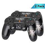 PS4 DualShock Wireless Controller Pro Konsole PlayStation4 Controller mit weichem Griff und exklusiver individueller Version Skin (PS4-Call of Duty) Mehrfarbig 2 - Pack