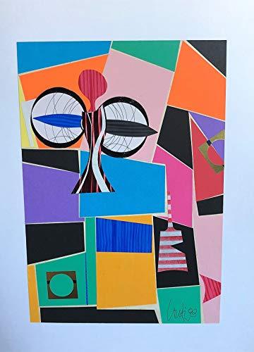Romano Conti quadro'Angelo a Las Vegas' 1993 43x33