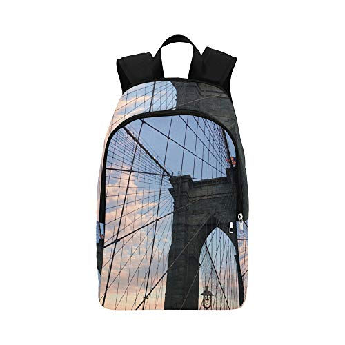 Brooklyn Bridge Casual Daypack Reisetasche College School Rucksack für Männer und Frauen - New River Gebäude