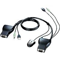 D-Link DKVM-222 - Cable adaptador (USB, VGA, 3.5 mm, micrófono), color negro