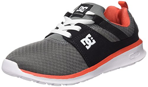 DC Shoes Jungen Heathrow Low-Top, Grey/Orange/Grey, 39 EU (Shoes Kinder-tag Dc)