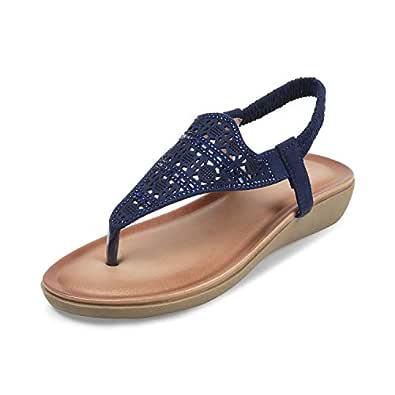 tresmode Women's Blue Fashion Sandals