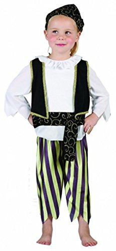 Jungen Weiß Pirat Kleinkind Fancy Dress Party Kostüm 2–4Jahre - Kleinkind Pirat Kostüm Jungen
