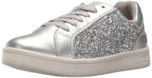 Geox Mädchen J Djrock  D Low-top Sneaker, Silber (Silver), 39 EU