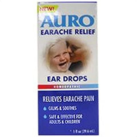 Auro Earache Relief Drops, 1 oz (Pack of 3) by