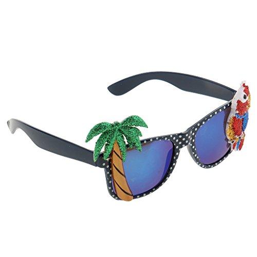 Gazechimp Hawaiian Tropische Sonnenbrille Spaßbrille Party Brille Scherzartikel Für Erwachsene...