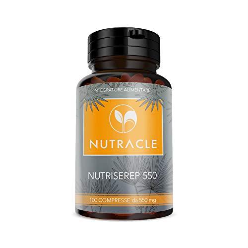 NUTRACLE NUTRISEREP 550 | 100 compresse da 550 mg | Serenoa Repens per il benessere della prostata e delle vie urinarie | Antiossidante naturale, alta concentrazione di acidi grassi (1 Confezioni)