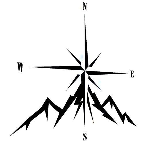 2 Pcs Autoaufkleber Nswe Fashion Compass Rose Navigieren 4X4 Offroad Auto Aufkleber Vinyl Aufkleber Schwarz 11,8 Cm * 12,9 Cm -