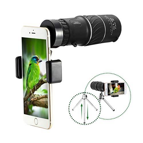 Telescopio monocular, monocular Compacto 16x52 HD Monocular Compacto con Soporte para teléfono Inteligente...