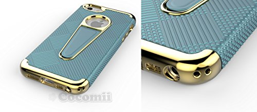 iPhone SE / 5S / 5 Hülle, Cocomii Angel Armor NEW [Heavy Duty] Premium Tactical Grip Kickstand Shockproof Hard Bumper Shell [Military Defender] Full Body Dual Layer Rugged Cover Case Schutzhülle Apple Gold