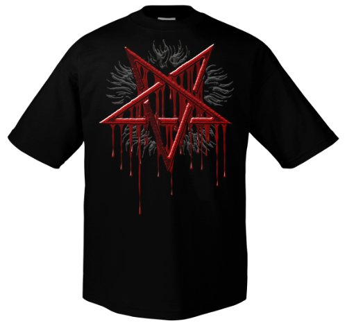 Made in Hell Blood Mark 1170 Herren T-shirt Schwarz
