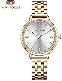 HWCOO Hermoso Relojes de Pulsera Mini Focus/Reloj para Mujer con Esfera de Diamantes Reloj