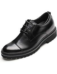 CHAMARIPA Zapatos con Alzas Hombre de Cuero - 9CM Aumentar la Altura - Zapatos Oxford Hombres para Boda Formal de Negocios