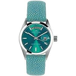 Mondia Italia Mistral mi742–2CP, reloj de pulsera de mujer, correa de piel auténtica de diseño.