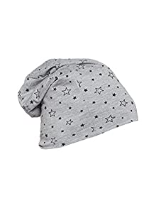 f19582d1040 Vimal Grey Printed Cotton Blended Beanie Cap For Women