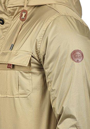 ... BLEND Finn Herren Übergangsjacke Kapuzenjacke aus hochwertiger  Baumwoll-Mischung Safari Brown (75115) ... 06a93e4f2b
