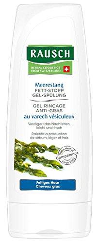 Rausch Meerestang Fett-Stopp Gel-Spülung (verzögert wirksam das Nachfetten, ohne Silikone und Parabene - Vegan), 4er Pack (4 x 30 ml)