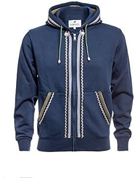 Herren Trachten Hoodie in Navy von Amsel Fashion