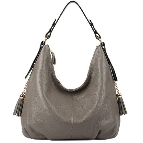 yaluxe-mujer-double-borlas-bolsillos-alados-suave-cuero-hobo-bolso-de-hombro-gris