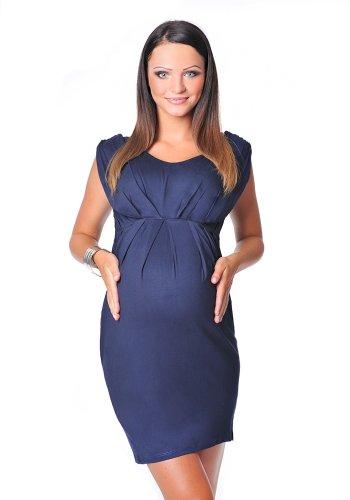 Purpless Maternity Atemberaubende Umstands Armellos V-Ausschnitt Kleid 8437 (42 (UK 14), Navy) (Atemberaubenden Kleid Kleider)