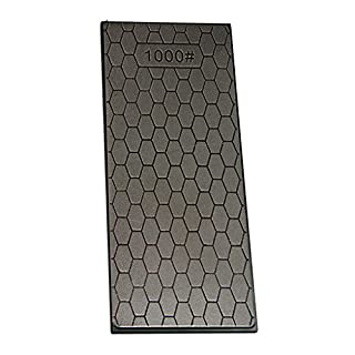 D DOLITY Single Dual Sided Sharpener Diamond Sharpening Stone Whetstone (1000#) 150x63x10mm