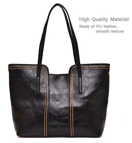 Greeniris donna borsa in pelle vintage lusso grande capacità borsa in pelle grigio Pagar Con Paypal En Venta kjPBxS