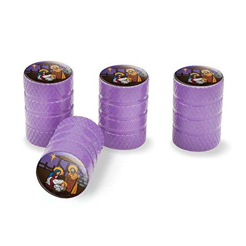 ry Joseph Weihnachten christlichen Bibel Tire Rand Rad Aluminium Ventil Stem Endkappen–Violett (Purple-bibel)