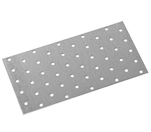Preisvergleich Produktbild Lochplatte, aus feuerverzinktem Stahlblech, CE geprüft, Größe: 100 x 300mm