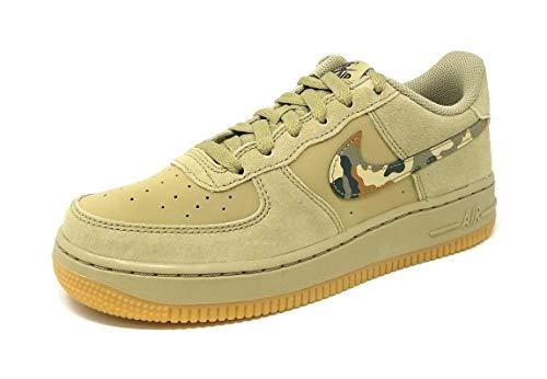 Nike Air Force 1 (Gs) - neutral olive/black-medium oli, Größe:7Y (Basketball-schuhe 7y)
