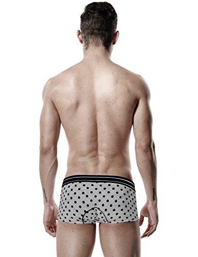 SEOBEAN Herren Low-Rise Sexy Boxer Brief Slip Trunks Unterwäsche 2624 Grey