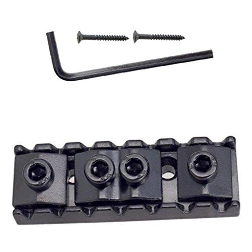 MagiDeal String Sicherungsmutter mit Schraubenschlüssel & Schrauben Set für 7-saitige E-Gitarre
